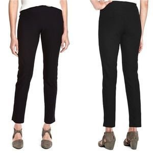 Eileen Fisher Pull On Crepe Black Pants Petite Med